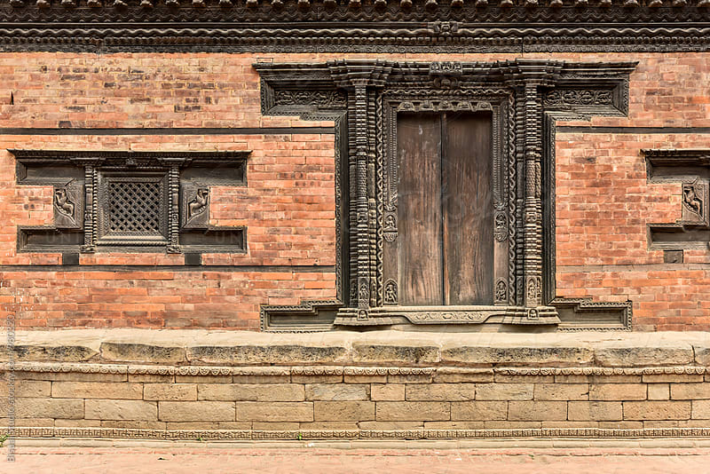 Facade of a palace in Patan Durbar Square by Bisual Studio for Stocksy United