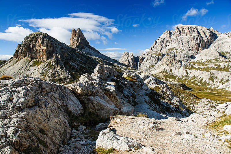 Mountains of Italy: Panorama of Dolomites near Sexten by Peter Wey for Stocksy United