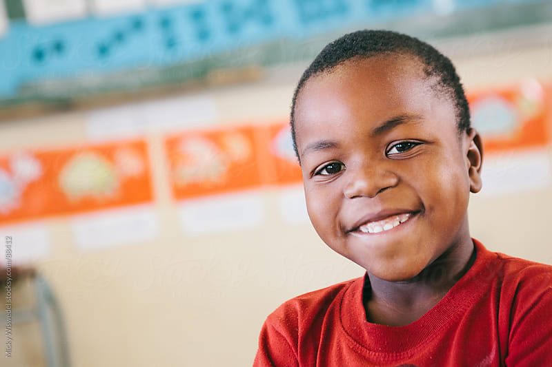 Cute African School Boy by Micky Wiswedel for Stocksy United