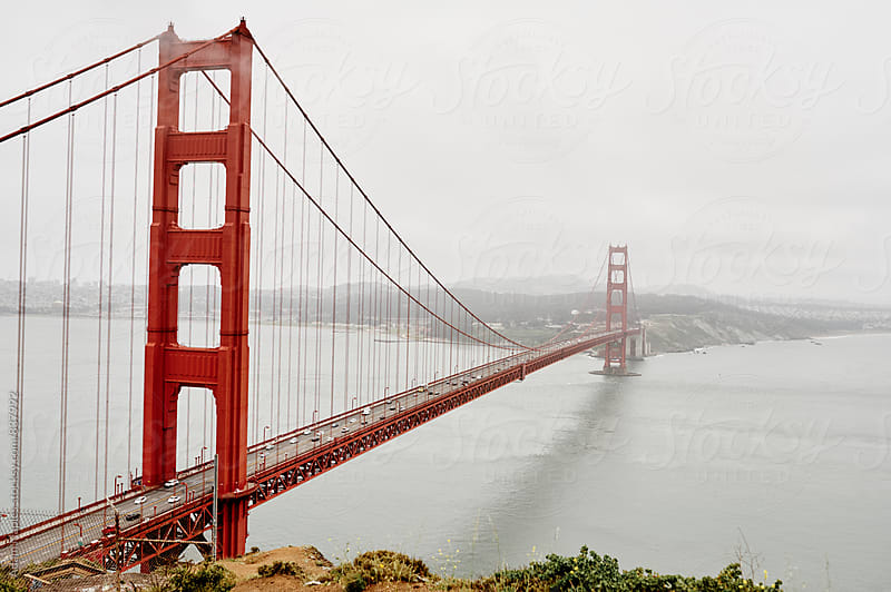 Cloudy Golden Gate Bridge by Adam Naples for Stocksy United