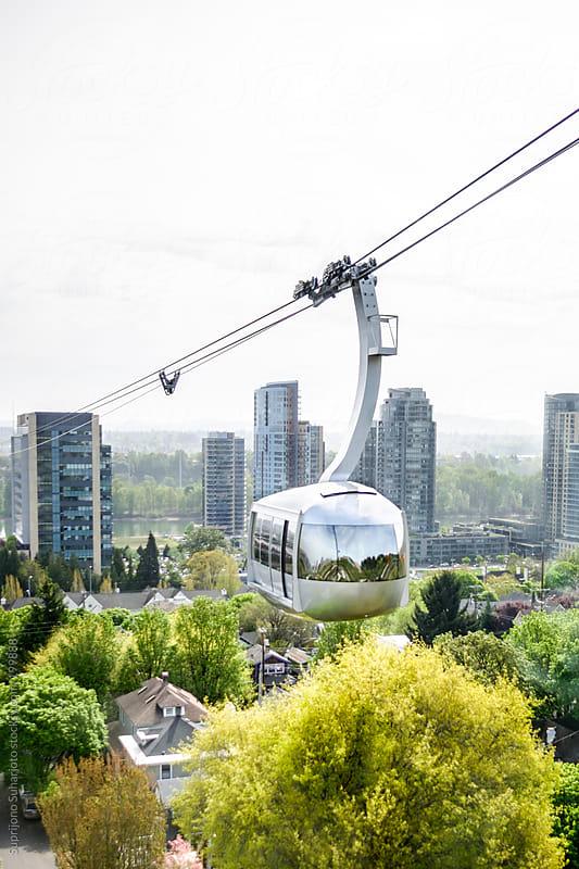 Air tram in Portland Oregon by Suprijono Suharjoto for Stocksy United