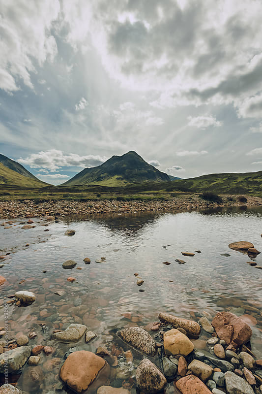 landscape in the scottish highlands by Leander Nardin for Stocksy United