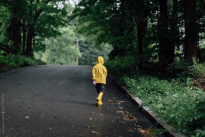 little boy on a walk by Léa Jones for Stocksy United