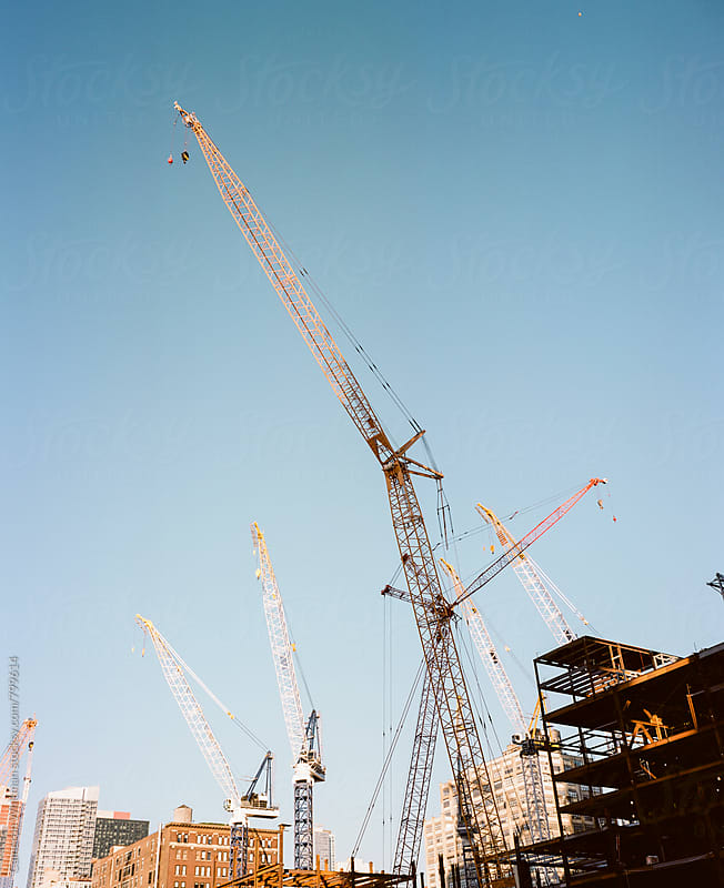 Tower Crane Party by Cameron Whitman for Stocksy United