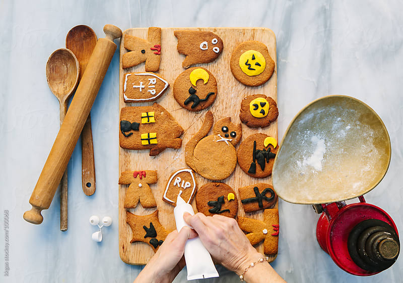 Making Halloween cookies by kkgas for Stocksy United