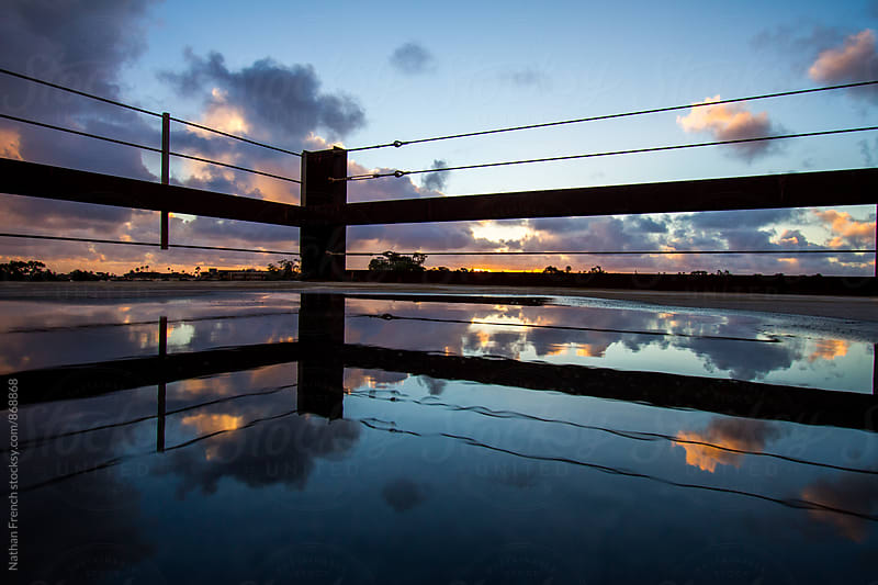 Symmetric Sunset Reflections by Nathan French for Stocksy United