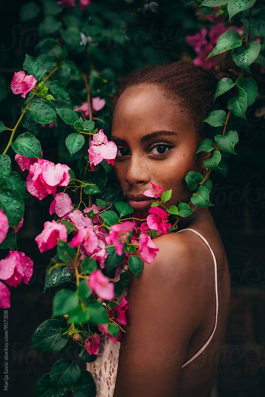 Beautiful Woman in Garden by Marija Savic for Stocksy United