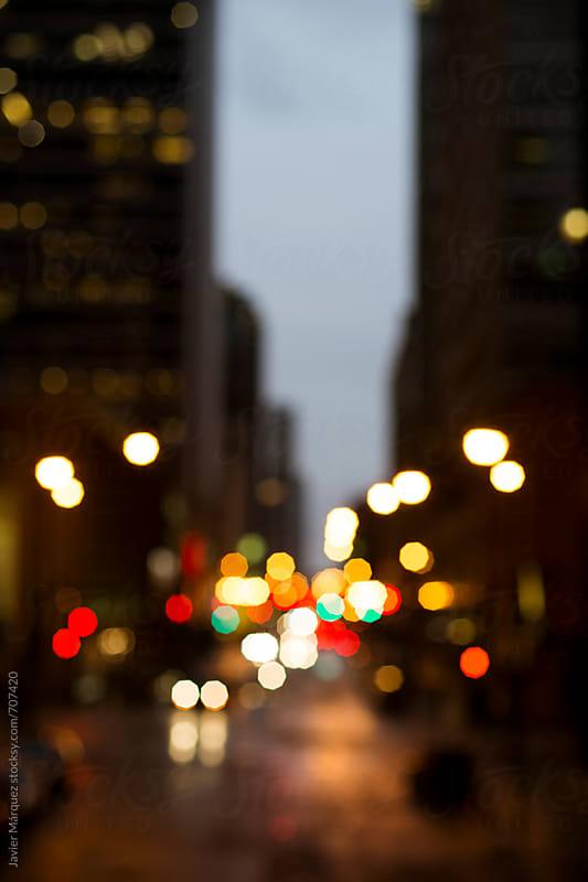 defocused lights  by Márquez Studio for Stocksy United