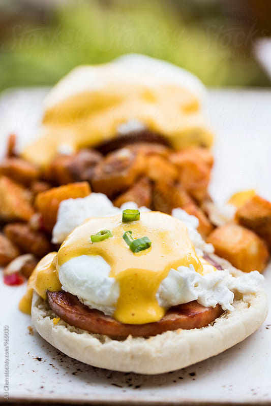 Eggs Benny Breakfast by Jill Chen for Stocksy United