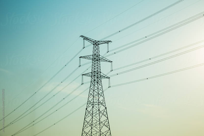 high voltage tower by unite images for Stocksy United