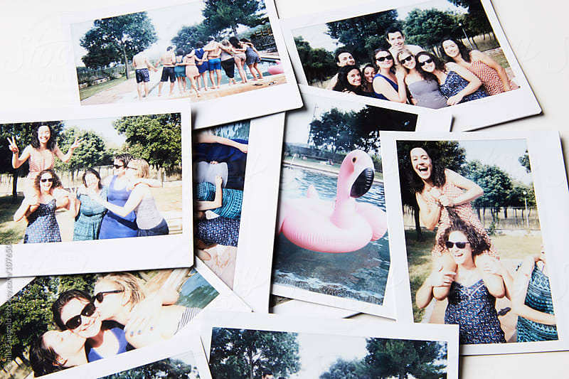 Instant shots of friends having fun in garden by Guille Faingold for Stocksy United
