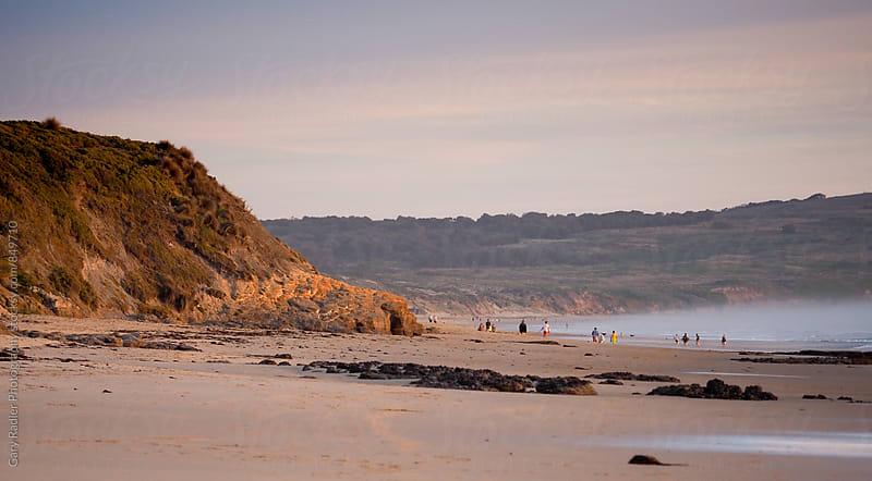 Cape Woolamai Surf Beach, Australia at Sunset by Gary Radler Photography for Stocksy United