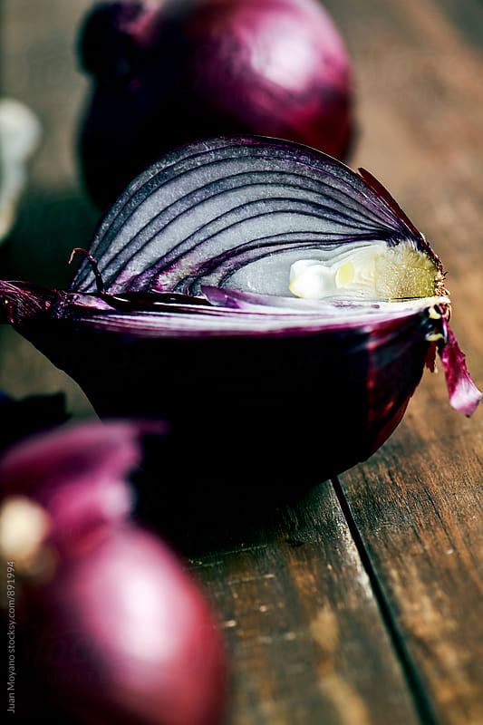 raw red onions by juan moyano for Stocksy United