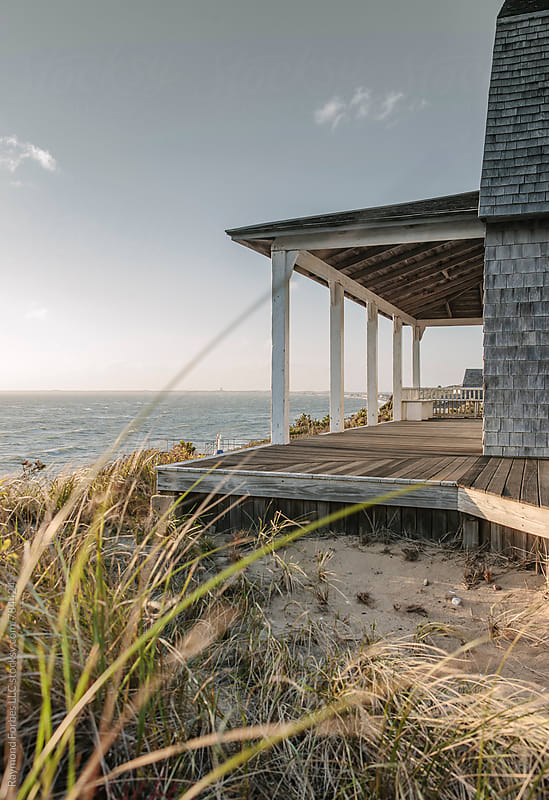 Cape Cod Porch in Winter Light by Raymond Forbes LLC for Stocksy United