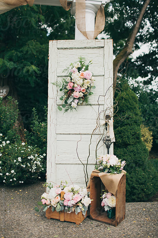 Vintage decorated wedding alter by Jeff Marsh for Stocksy United