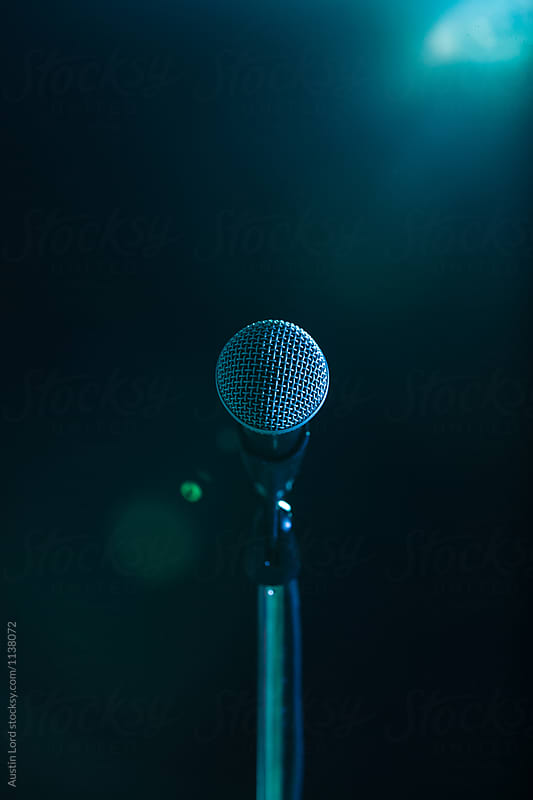 in a dark dark room microphone in a dark room by austin lord microphone speaking