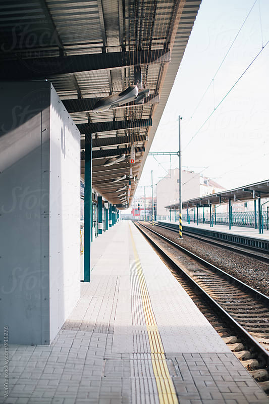 Train station during the day by Marija Mandic for Stocksy United