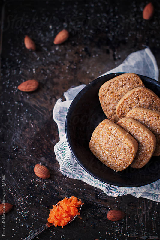 Wholemeal carrot cookies  by Federica Di Marcello for Stocksy United