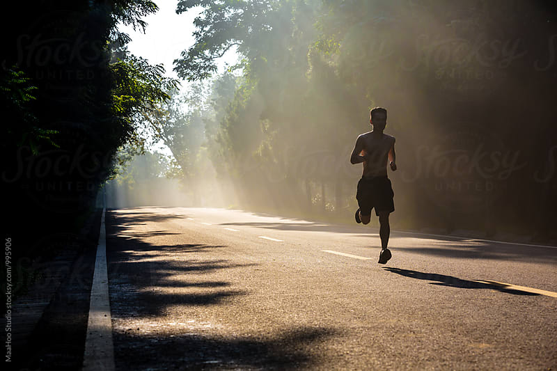 Man running in the morning by Maa Hoo for Stocksy United