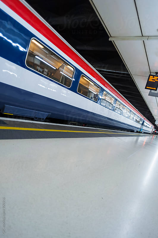 High Speed Train in a railroad station by GIC for Stocksy United