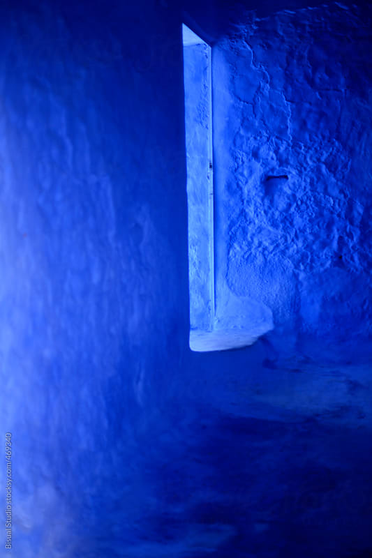 Blue walls in Chefchaouen by Bisual Studio for Stocksy United