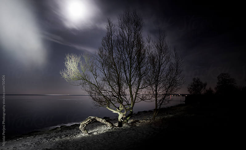 Full moon by Nicolai Perjesi Photography for Stocksy United