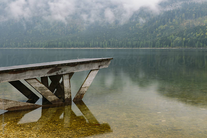 Foggy morning at lake in Austria by Andrey Pavlov for Stocksy United