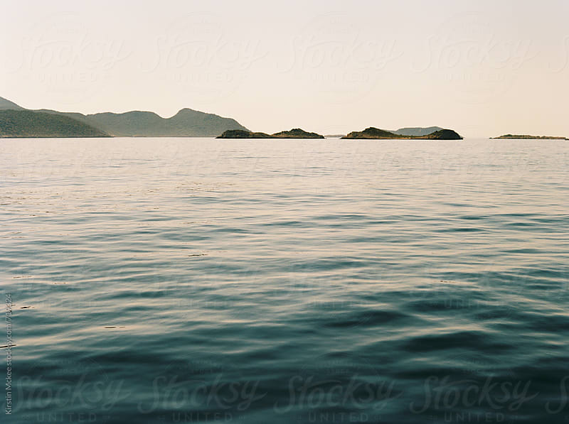 The sea, as from a moving boat in Turkey by Kirstin Mckee for Stocksy United