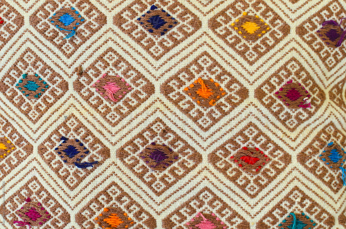 Traditional Mexican Embroidery Pattern By Alice Nerr For Stocksy United