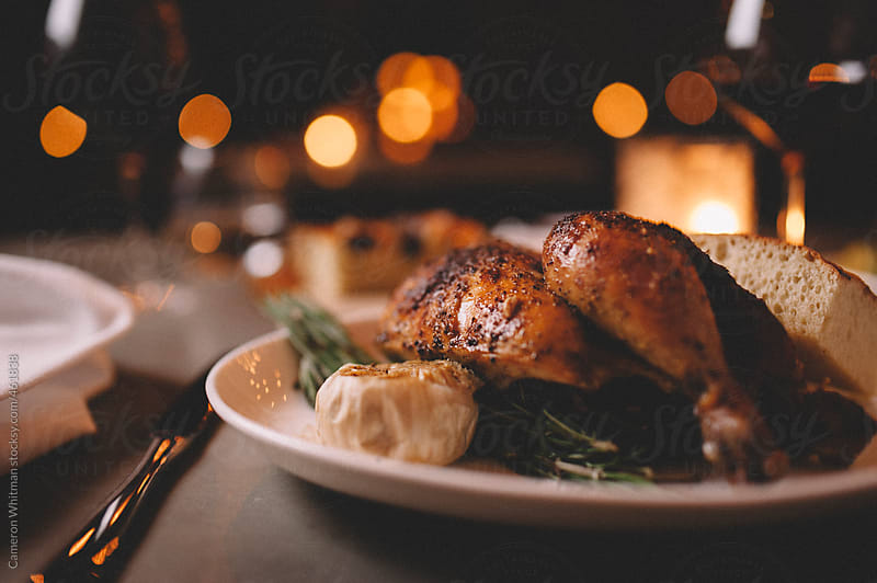 Roasted Chicken Dinner by Cameron Whitman for Stocksy United