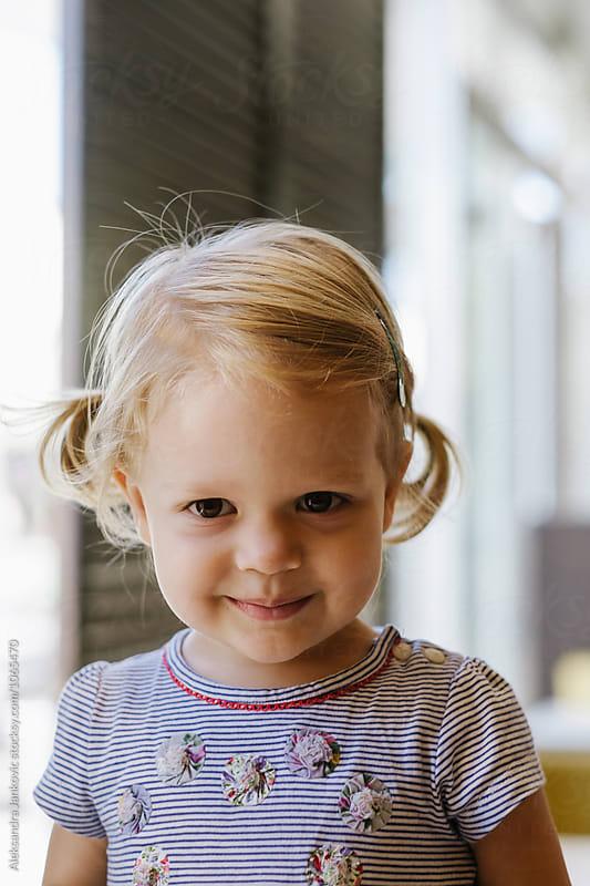 Cute Blond Baby Girl by Aleksandra Jankovic for Stocksy United