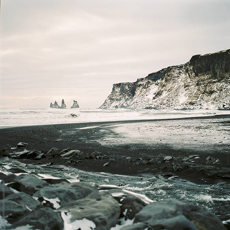 Black beach at Vik by Sam Burton for Stocksy United