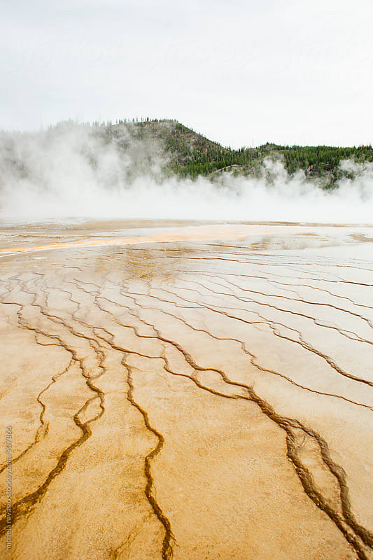 Mineral deposits in Midway Geyser at Yellowstone National Park by michela ravasio for Stocksy United