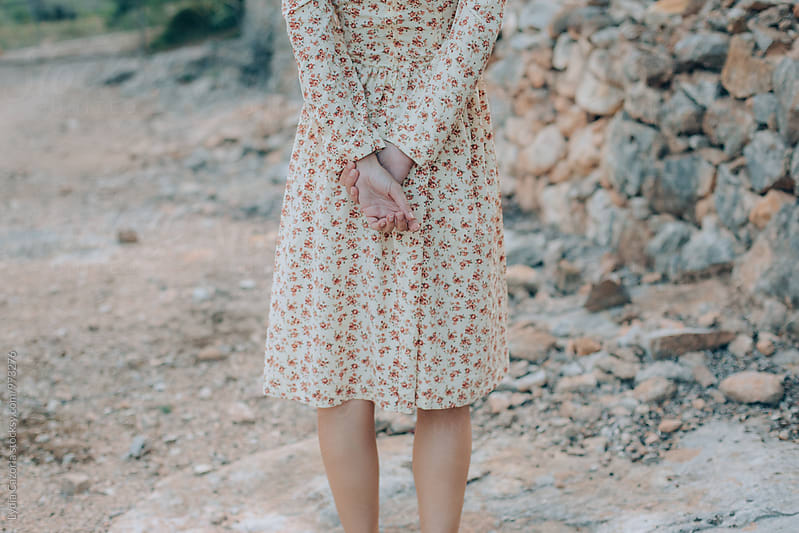 Vintage Dressed Young Woman by Lydia Cazorla for Stocksy United