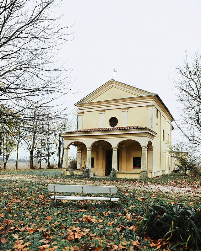 Old little church in countryside near Pavia, northern Italy by Laura Stolfi for Stocksy United