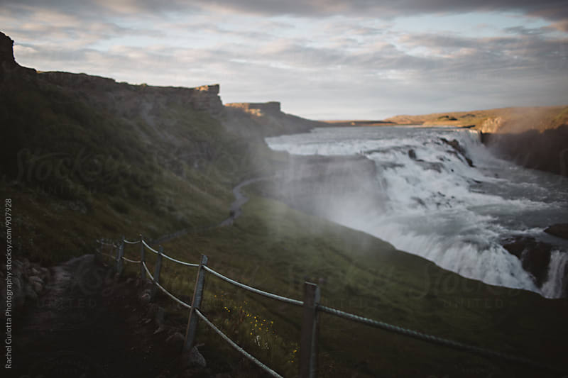 Gulfoss Waterfall in Iceland by Rachel Gulotta Photography for Stocksy United