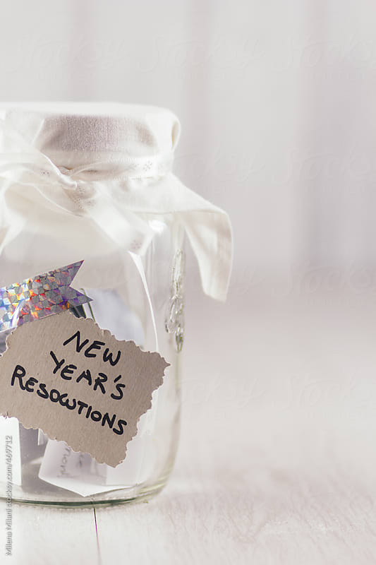 New Year's resolutions jar by Milena Milani for Stocksy United