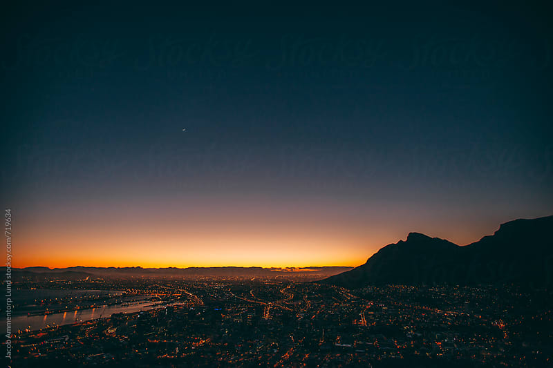 Early morning view over Cape Town by Jacob Lund for Stocksy United