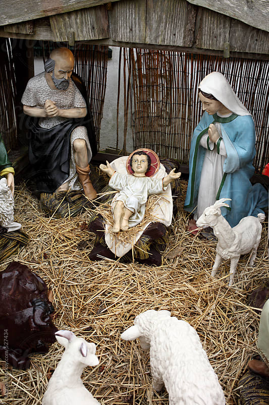 Model of the birth of jesus in a stable by Marcel for Stocksy United