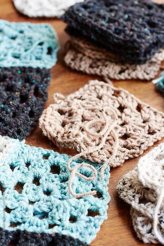 Making a crochet blanket by Harald Walker for Stocksy United