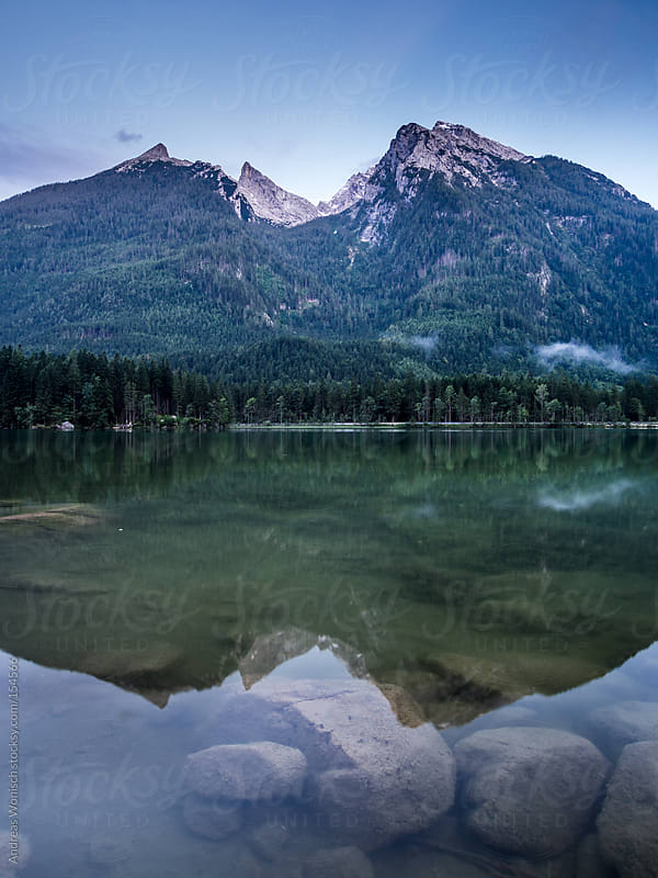 Alps View at the German Hintersee in Bavaria by Andreas Wonisch for Stocksy United