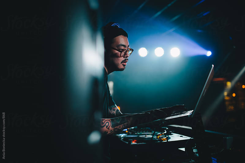 DJ at the club by Ania Boniecka for Stocksy United