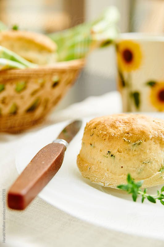 Vegan Herbed 'Buttermilk' Biscuits by Harald Walker for Stocksy United