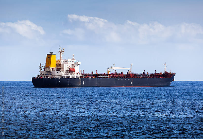 Big Chemical Tanker in the Atlantic Ocean by Victor Torres for Stocksy United
