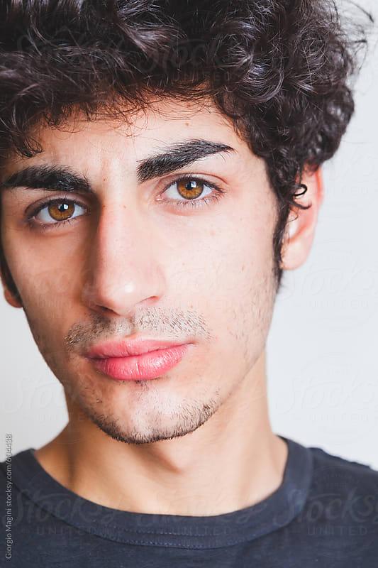 Handsome Italian Teenage Boy Portrait By Giorgio Magini