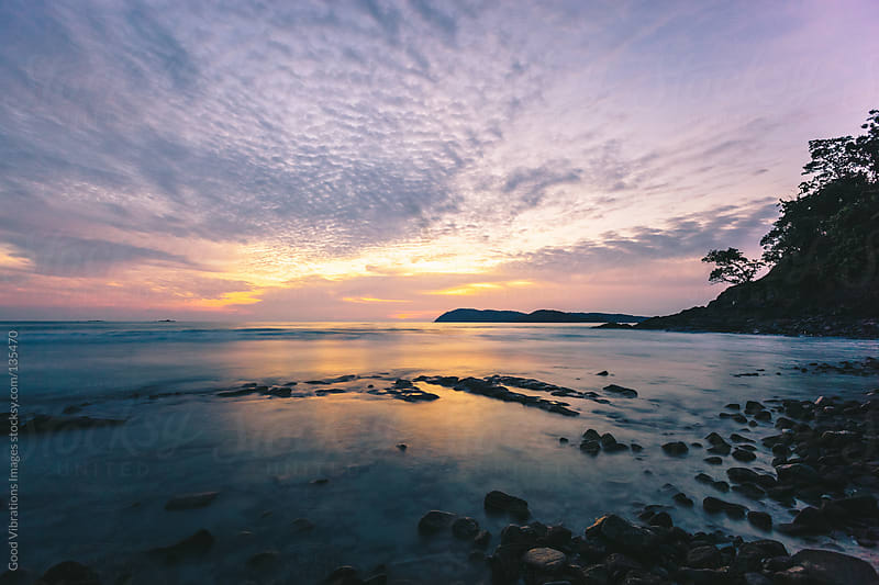 Sunset on the Beach by Good Vibrations Images for Stocksy United