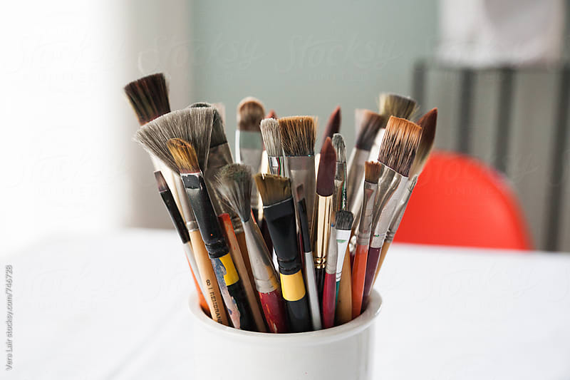 Paint brushes by Vera Lair for Stocksy United