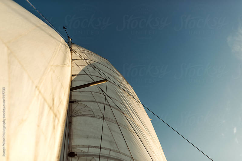 The main sail of a boat by Joseph West Photography for Stocksy United