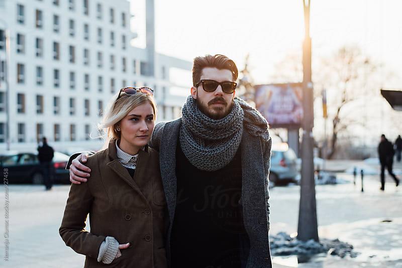 Young Couple Taking a Walk. by Nemanja Glumac for Stocksy United