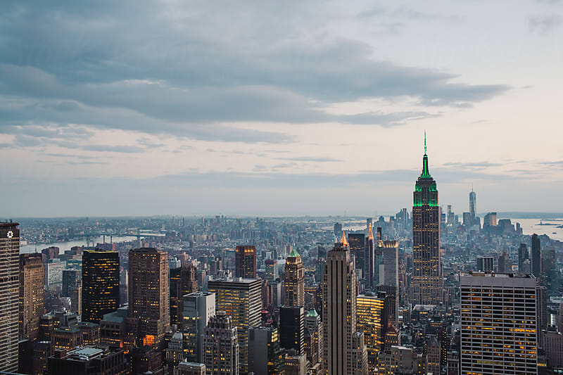 View of skyscrapers in New York City from the Top of The Rock by michela ravasio for Stocksy United